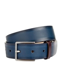 Paul Smith Smooth Leather Belt Unisex Navy