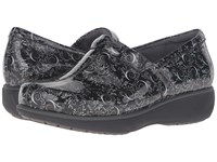 Softwalk Meredith Black White Printed Patent Leather Women's Slip On Shoes