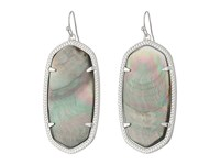 Kendra Scott Danielle Earrings Rhodium Black Mother Of Pearl Earring Green