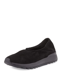 Hug2 Leather Slip On Loafer Black Eileen Fisher