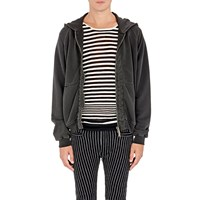 Haider Ackermann French Terry Zip Front Hoodie Gray