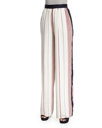 Elizabeth And James Rory Striped Wide Leg Pants Multi Colors