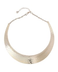 Lydell Nyc Golden Hammered Collar Necklace