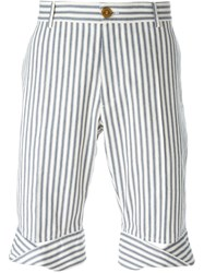 Vivienne Westwood Man Ticking Stripe Shorts White