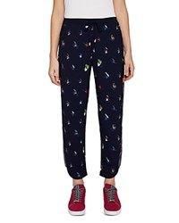 Ted Baker Colour By Numbers Tanyaa Fly Fish Jogger Pants Navy