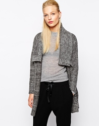 Mango Oversized Knitted Cardigan Grey