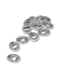 Torrini Silver Giftware I Ching Sterling Silver Coins Set Of 13