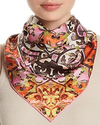 Fraas Distressed Tile Silk Square Scarf Pink