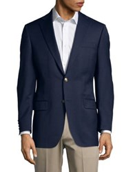 Hart Schaffner Marx Two Button Suit Jacket Navy
