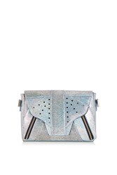 Topshop Exclusive Holographic Lemur Crossbody Silver