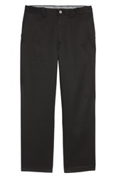 Nordstrom Men's Big And Tall Men's Shop 'Classic' Smartcare Tm Relaxed Fit Flat Front Cotton Pants Black