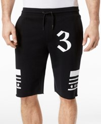 Inc International Concepts I.N.C. Men's Graphic Print Drawstring Shorts Created For Macy's Deep Black