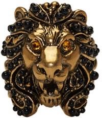 Gucci Gold Lion Head Ring