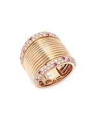 Roberto Coin Basic Gold Diamond Sapphire And 18K Rose Gold Ring