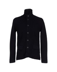Blu Knitwear Cardigans Men Dark Blue