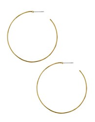 Robert Lee Morris Wire Hoop Earrings Gold