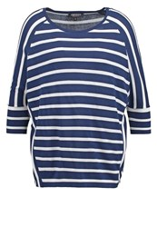 Morgan Long Sleeved Top Marine Blanc Dark Blue