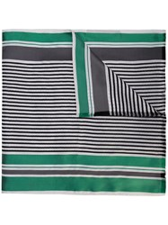 Haider Ackermann Striped Scarf Green