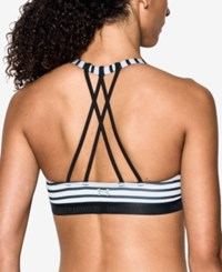 Under Armour Low Impact Strappy Sports Bra Black Black