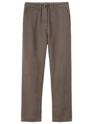 Toast Stretch Cotton Twill Trousers Mink