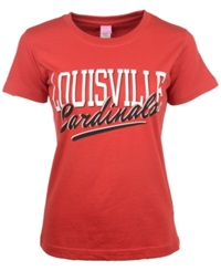 Royce Apparel Inc Women's Short Sleeve Louisville Cardinals T Shirt Red