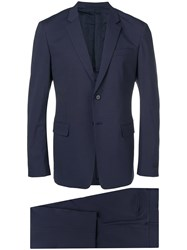 Prada Formal Tailored Suit Blue