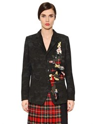 I'm Isola Marras Patches On Light Wool Blend Jacket