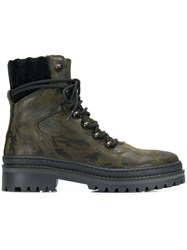 Tommy Hilfiger Camouflage Hiking Boots Green