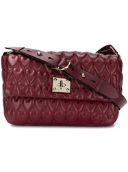 Red Valentino Heart Quilted Shoulder Bag Red