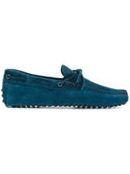 Tod's Tie Detail Loafers Blue