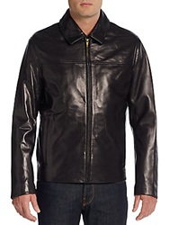Cole Haan Lambskin Leather Jacket Black