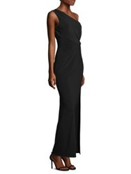 Laundry By Shelli Segal Floor Length One Shoulder Bodycon Dress Black