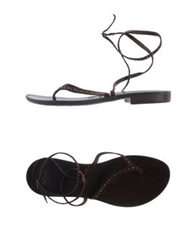 Now Thong Sandals Dark Brown