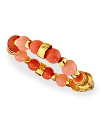 Jose And Maria Barrera Gold Plated Beaded Shell Bracelet
