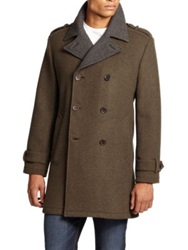 Cole Haan Wool Double Breasted Coat Berkshire