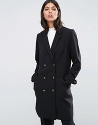Y.A.S Double Breasted Coat Black