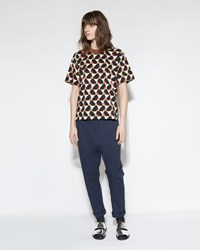 Marni Relaxed Trouser Blue Black