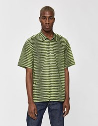 Tres Bien Tourist Button Up Shirt In Agassi Stripe Green