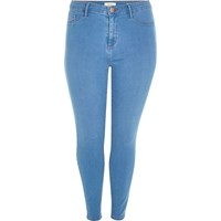 River Island Womens Ri Plus Bright Blue Molly Skinny Jeans