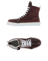 Kris Van Assche Krisvanassche Footwear High Tops And Trainers Men Maroon