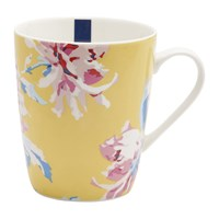 Joules Whitstable Floral Fine China Mug Yellow