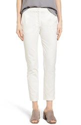 Catherine Malandrino Women's Blair Slim Pants Empire White