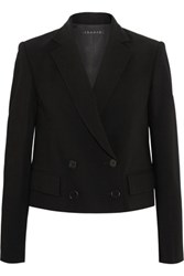 Theory Cropped Stretch Wool Blend Blazer Black
