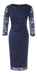 Grace Made In Britain Lace Dress Navy