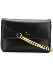 Philippe Model Foldover Top Shoulder Bag Black