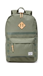 Herschel Heritage Backpack Deep Lichen Green Stripe Tan