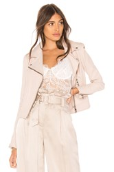 Lamarque Donna Leather Biker Jacket Blush