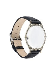 Ann Demeulemeester Watch Shaped Bracelet Black