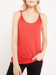 And Or Twist Detail Vest Red