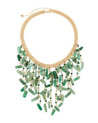 Lydell Nyc Statement Bib Necklace Green